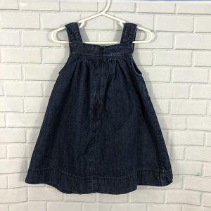 GAP Dresses - SOLD! GAP Baby Gap Denim Button Dress 2yr